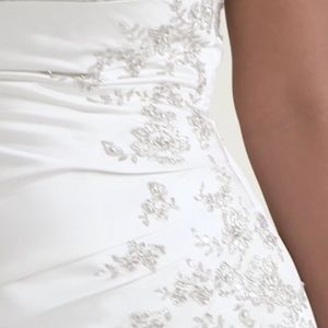 David's Bridal Dresses - A-line Wedding Dress with Lace Up Back